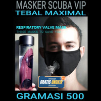 masker kain filter scuba virus TEBAL MAXIMAL