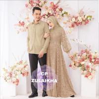 LVR Couple ZULAIKHA maxi gamis syari kemeja pakaian muslim wanita pria