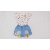 Baju Anak Setelan Celana Pendek Jeans Kaos Unicorn | Children Clothes