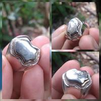 cincin terompah batu akik badar emas