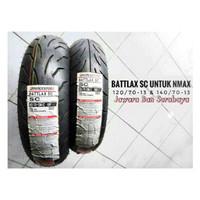 Ban Yamaha NMAX Battlax SC 120/70-13 + 140/70-13 ( Edisi 2016-2017 )