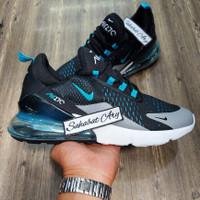 Sepatu Nike Air Max 270 Black Blue Turquoise