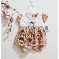 0157 -Setelan murah baju sehari-hari bayi perempuan 0-6 bulan . LOL