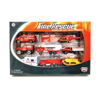 Mainan Diecast Set Fire Rescue Metal Kontruksi PMK 8-555F
