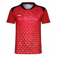 Jersey baju kaos olahraga badminton tenis meja Lining impor SKN 3