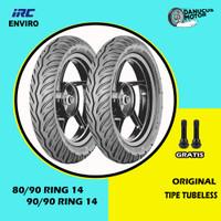 Paket Ban Motor Matic // IRC ENVIRO 80/90 - 90/90 Ring 14 Tubeless