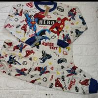 Baju Tidur/piyama Setelan anak laki Super Hero no.10-20 Usia:5-10 thn