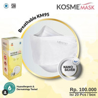 KOSMEMASK - BREATHABLE MASK KM95 NANO SILVER   KOSME MASK