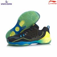 New Sepatu Badminton Lining AYTQ021 / AYTQ 021 Halberd II V2 Black