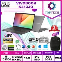 ASUS VIVOBOOK K413JQ i5 1035G1 8GB 512ssd MX350 2GB 14.0FHD W10+OHS