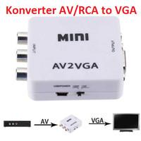 RCA to VGA Konverter AV to VGA Video Converter Full HD High Resolution