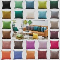 termurah sarung bantal sofa 45x45 bahan kain star halus cerah kuat