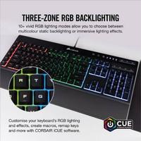 Keyboard gaming macro Corsair K55 RGB makro key . non mechanical