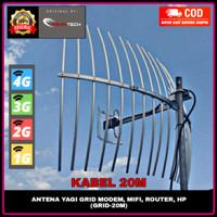 Antena Yagi Grid Penguat Stabilitas Sinyal HP Modem 4G+ H+ 3G 2G E 20M