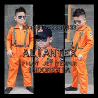 Sedang Murah Baju Pilot Tempur Anak/ Baju Profesi Anak /Kostum Anak -