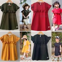 Baju Anak Perempuan Daster Anak Dress Pakaian Anak Perempuan Cewek RF2 - SIZE 1 TAHUN, Hitam