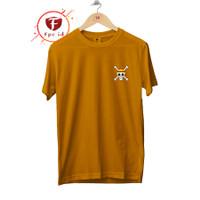 Kaos Pria Distro Anime One Piece Tengkorak Logo Cotton Combed 30s Baju
