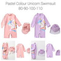 Baju Renang Anak Pastel Unicorn