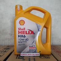 Oli Mobil Shell Helix HX6 10W-40 4 Liter Asli