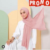 pasmina PLISKET kerudung hijab pashmina CERUTY PLISKET - peach