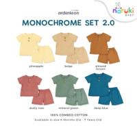 Ardenleon Monochrome Set Kids Arden Leon Baju Setelan Anak (NEW COLOR)
