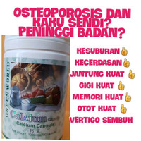 CALCIUM SOFTGEL GREEN WORLD/OBAT OSTEOPOROSIS