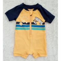 Baju Renang Bayi Shark Orange