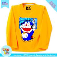 Logokids Baju / Kaos Anak Lengan Panjang Motif Doraemon 1-10 Tahun