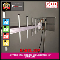 ANTENA YAGI PENGUAT SINYAL HP & MODEM 4G+ 4G H+ 3G 2G E