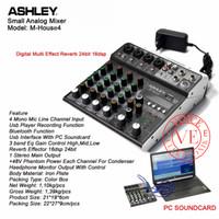 Mixer Ashley M House4 Original 4 CH Multi Effect Reverb 24 bit 16 DSP