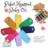 paket hemat menspad Baby Oz light period - 6 pcs polos, minipad