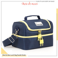 Lunch Bag MOIS DE MARS Double Decker inner Alu Foil - Plain
