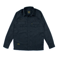 BASIC BLACK LS, Kemeja Panjang Polos-Casual / Baju Kerja Lapangan - L