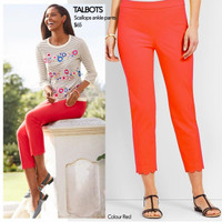TALBOTS scallops ankle pant