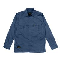 BASIC CHARCOAL LS, Kemeja Panjang Polos-Casual / Baju Kerja Lapangan