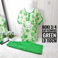 PIYAMA HOKI SHEILA 3/4 / BAJU TIDUR HOKI SHEILA 3/4 - HAWAI NAVY