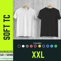 Kaos Polos Atasan Pria Wanita Oblong Pendek Soft TC XXL Premium