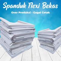 Banner Spanduk flexy POLOS bekas sisa produksi gagal cetak a