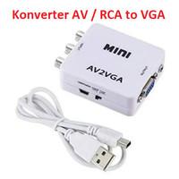AV to VGA Konverter RCA to VGA Video Converter Full HD High Resolution