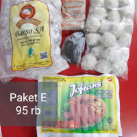 paket hemat E bakso sony lampung free bumbu,pempek frozen,sosis ayam