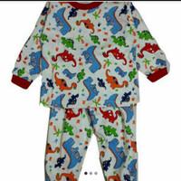 Baju Tidur/Piyama Setelan anak laki DINOUSAURUS No.10-20 Usia:5-10 thn