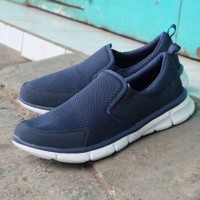 Sepatu pria Size besar ukuran 48 Slip On Original slazenger Navy