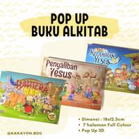 Buku Pop Up 3D Cerita Alkitab Anak Bahasa Indonesia