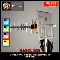 Antena Yagi Penguat Stabilitas Sinyal HP Modem Mifi 4G+ H+ 3G 2G 20M