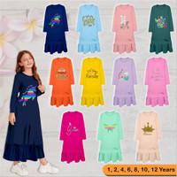 Gamis Anak Perempuan 1-12 Tahun Tunik Baju Cewek Muslimah Gymbore Kids