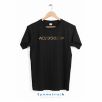 Airbus A350 xwb T-shirt Hitam