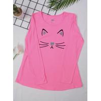 Kaos Atasan Baju Anak Perempuan Justice Lengan Panjang warna Pink