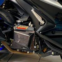 cover radiator carbon kevlar aerox lexi tutup radiator nmax
