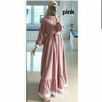 gamis wanita terbaru/ gamis modern/ baju muslim terbaru/ gamis remaja