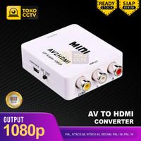 AV2HDMI Converter AV / RCA to HDMI Mini Adapter HD Video 1080P